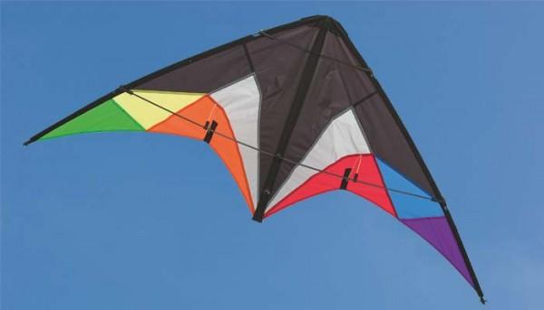 Invento-HQ Lenkdrachen Quickstep II Black Rainbow (130 x 60 cm) - R2F
