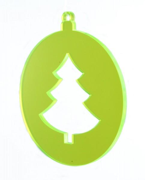 Lichtzauber Kugel Tannenbaum, 8 cm, grün (Elliot 1021711)