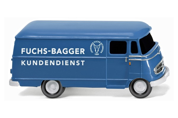 "Wiking 026503 - Kastenwagen (MB L 319) ""Fuchs Bagger Kundendienst"" - 1:87"