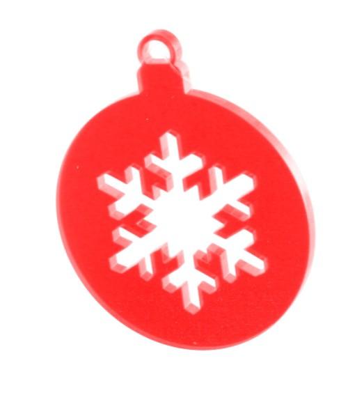 Lichtzauber Kugel Eiskristall, 6 cm, rot (Elliot 1021553)