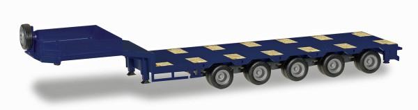 Herpa 076388-008 - Goldhofer Semitiefladeauflieger 5-achs mit beiliegenden Rampen, kobaltblau - 1:87
