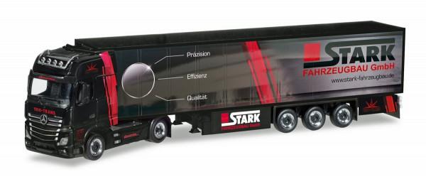 "Herpa 308380 - Mercedes-Benz Actros Giga Kühlkoffer-Sattelzug ""Trio-Trans / Stark Fahrzeugbau"" - 1:8"