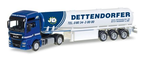 "Herpa 307208 - MAN TGX XXL Euro 6c Benzintank-Sattelzug ""Dettendorfer"" - 1:87"