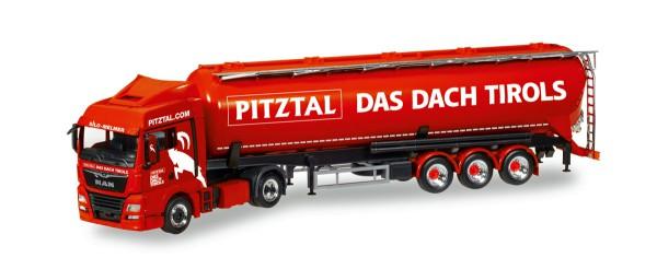 """Herpa 308502 - MAN TGX XLX Euro 6c Silo-Sattelzug """"Melmer Pitztal, Das Dach Tirols"""" (A) - 1:87"""