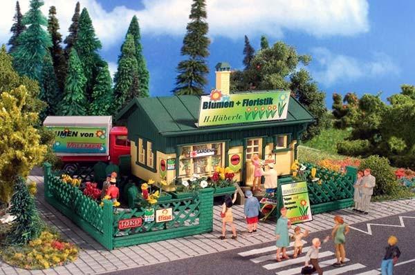 Vollmer 5152 - Blumen Kiosk mit Blumen - Bausatz - H0