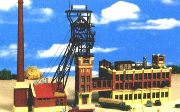Kibri 37228 (7228) - Förderturm mit Maschinenhaus und Kohlewäschegebäude - Bausatz - N