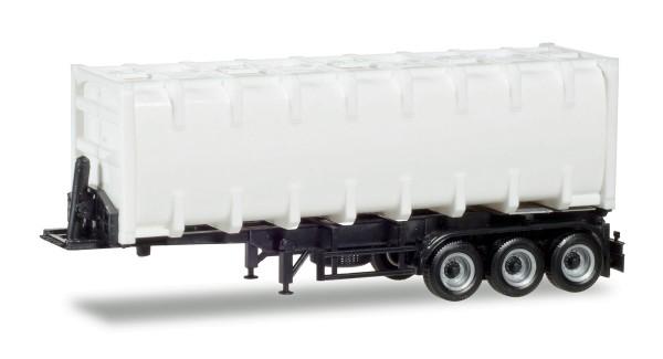 Herpa 076234-002 - 30ft. Bulkcontainerauflieger, Chassis schwarz - 1:87
