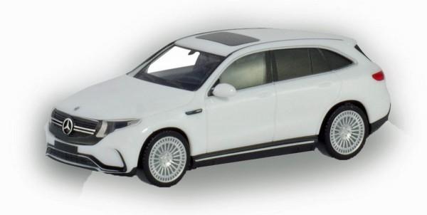 Herpa 420426 - Mercedes-Benz EQC AMG, polarweiß erstes Elektro-SUV von Mercedes-Benz - 1:87
