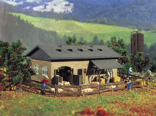 Vollmer 43740 - Schweinestall mit Schweinen - H0 (3740)