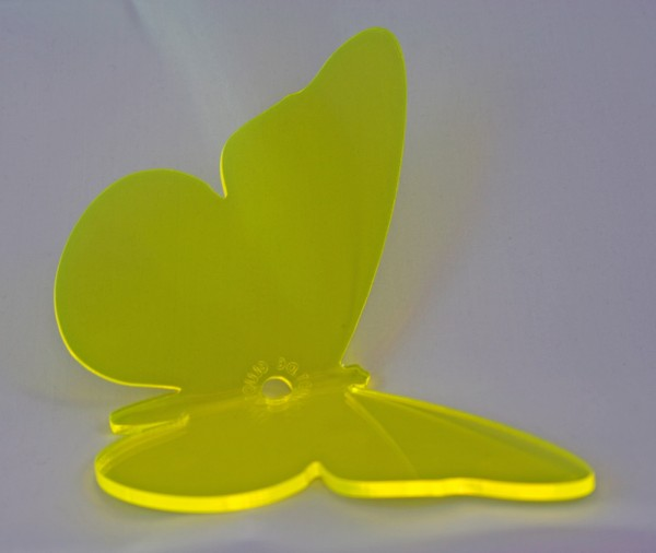 Lichtzauber Sonnenfänger - Schmetterling mittel, 16 cm, gelb, gebogen (Elliot 1019453)