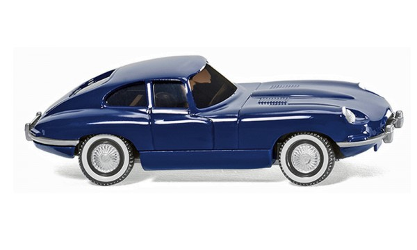 Wiking 080302 - Jaguar E-Type Coupé - dunkelblau - 1:87