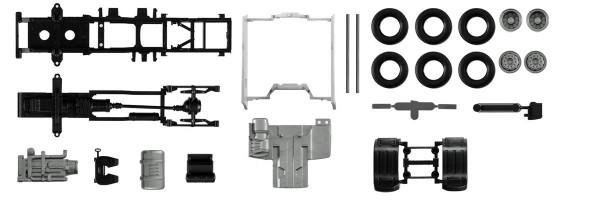 Herpa 084550 - Fahrgestell DAF XF Euro 6 mit Chassisverkleidung Inhalt: 2 Stück - 1:87