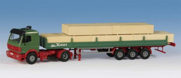 Kibri 14641 - MB SK 2achs Zugmaschine mit Auflieger und Ladung - H0
