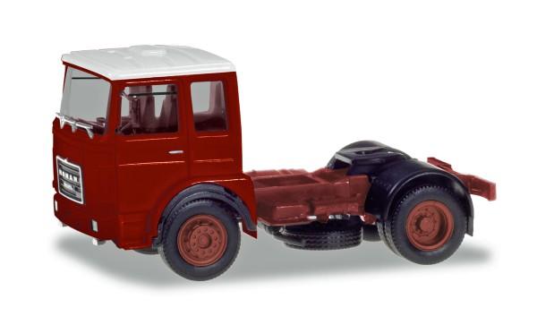 Herpa 310550 - Roman Diesel 4×2 Zugmaschine, braunrot / Dach weiß - 1:87