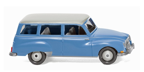 Wiking 012301 - Auto Union 1000 Universal - blau mit weißem Dach - 1:87