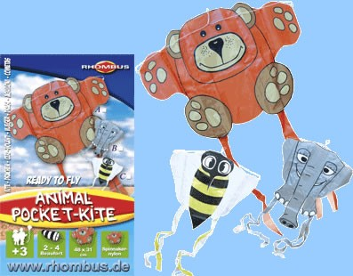 Rhombus - Mini Pocket Kite / Taschen-Drachen - Biene