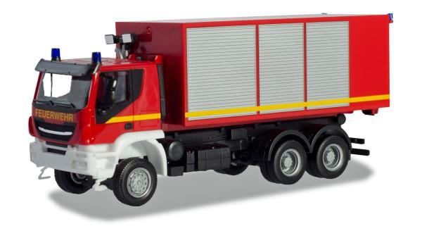 """Herpa 094610 - Iveco Trakker Wechsellader-LKW """"Feuerwehr"""" - 1:87"""