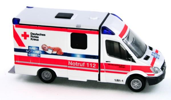 Rietze 61742 - Strobel RTW Babynotarzt DRK Böblingen - 1:87