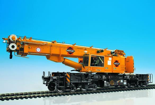 Kibri 16000 - Gottwald Eisenbahn-Teledkopkran GS 100.06 T - H0