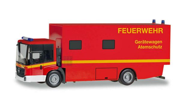 """Herpa 095723 - Mercedes-Benz Econic Koffer-LKW """"Feuerwehr Gerätewagen Atemschutz"""" - 1:87"""