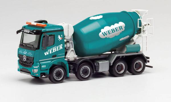 "Herpa 312707 - Mercedes-Benz Arocs M Betonmischer ""Betonpumpen Weber"" - 1:87"