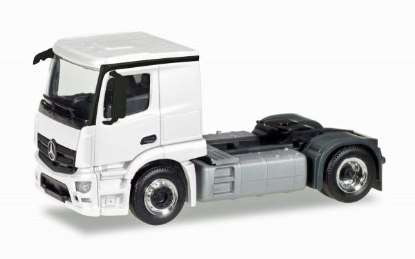 Herpa 013291 - Herpa MiniKit: Mercedes-Benz Actros Classicspace 2,3 Zugmaschine, weiß - 1:87