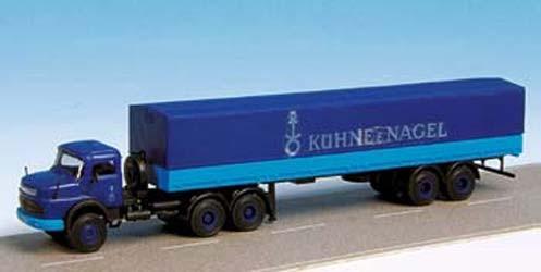 Kibri 14669 - MB LS 337 Planenzug Kühne & Nagel - H0
