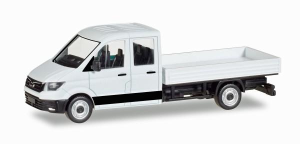 Herpa 013215 - Herpa MiniKit: MAN TGE Doppelkabine mit Pritsche, weiß - 1:87