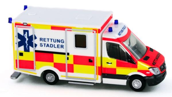 Rietze 61721 - WAS RTW Facelift Ambulanz Stadler - 1:87