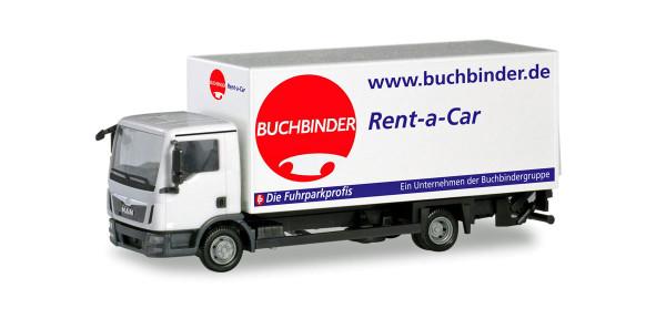 """Herpa 310598 - MAN TGL Koffer-LKW mit Ladebordwand """"Buchbinder Autovermietung"""" - 1:87"""