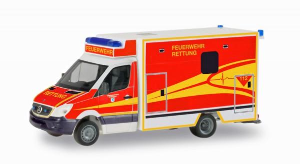 """Herpa 094214 - Mercedes-Benz Sprinter Fahrtec RTW """"Feuerwehr Ingolstadt"""" - 1:87"""