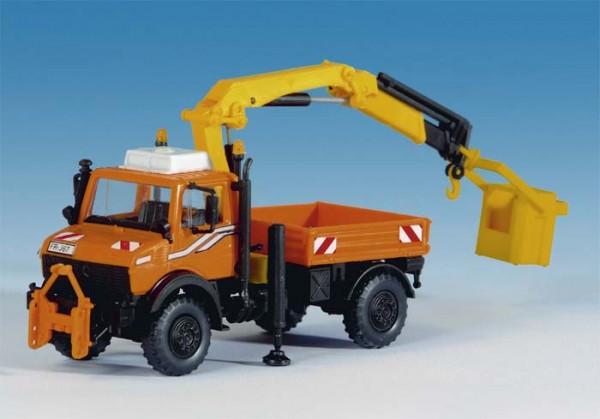 Kibri 15005 - Unimog mit Arbeitskran und Korb - H0