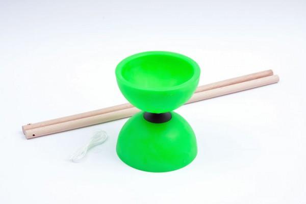 Diabolo 115 mm von Invento - inkl. Handstäben und Schnur