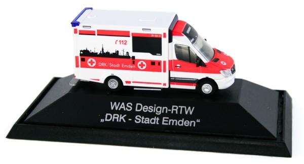 Rietze 72046 - WAS Design-RTW DRK Stadt Emden - 1:87 - Einsatzserie