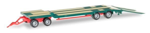 Herpa 076142-005 - Goldhofer TU 4 Anhänger, grün - 1:87