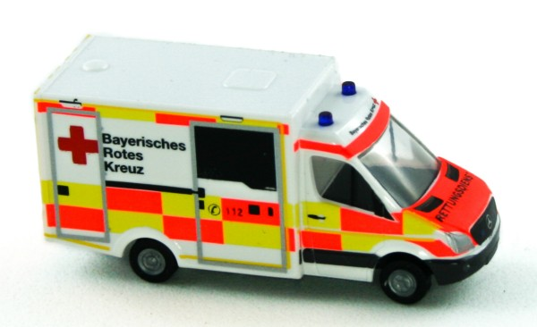 Rietze 16187 - WAS Ambulanz RTW BRK neues Design - 1:160