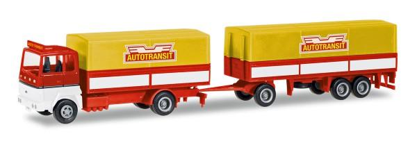 """Herpa 308021 - Ford Transconti Planen-Hängerzug """"Autotransit"""" (S) - 1:87"""