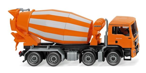 Wiking 068148 - Fahrmischer (MAN TGS Euro 6 / Liebherr) - orange - 1:87