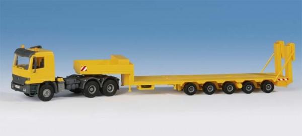 Kibri 14654 - Actros 3achs Zugmaschine mit Goldhofer Plattformtieflader - H0