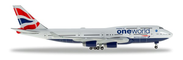 "Herpa Wings 531924 - British Airways Boeing 747-400 ""OneWorld"" - G-CIVL - 1:500"