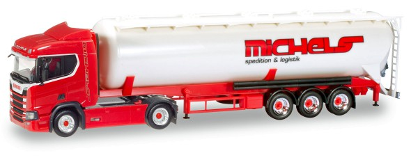 "Herpa 307598 - Scania CR 20 HD Silo-Sattelzug ""Michels"" - 1:87"