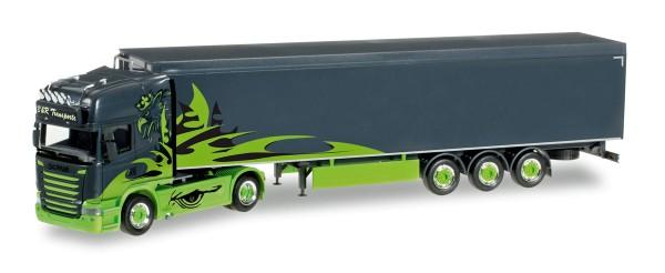 "Herpa 305310 - Scania R Schubboden-Sattelzug ""Poison Arrow / B&R Transporte"" - 1:87"