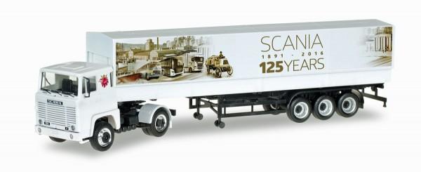 "Herpa 306430 - Scania 141 Planen-Sattelzug ""125 Jahre Scania"" - 1:87"