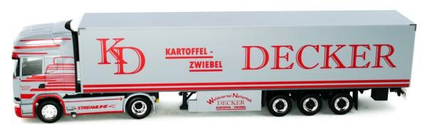 "Herpa 934954 - Scania R `13 TL Kühlkoffer-Sattelzug ""Decker"" (A) - 1:87"