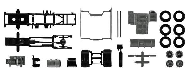 Herpa 084895 - Fahrgestell DAF XF mit Chassisverkleidung Inhalt: 2 Stück - 1:87