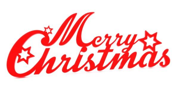 Lichtzauber Merry Christmas 20 cm, rot (Elliot 1021213)