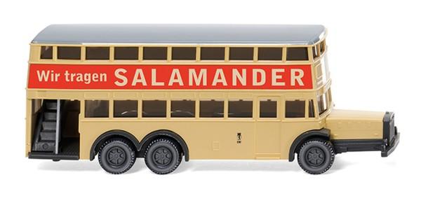 """Wiking 097303 - Berliner Doppeldeckerbus D 38 """"Salamander"""" - 1:160"""