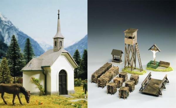Kibri 39780 (9780) - Kapelle Hirschbichl mit Zubehör - H0