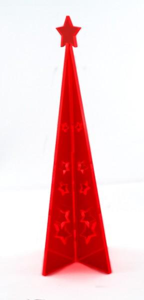 Lichtzauber 3D-Design-Tannenbaum groß, 20 cm, rot, stehend (Elliot 1020413)
