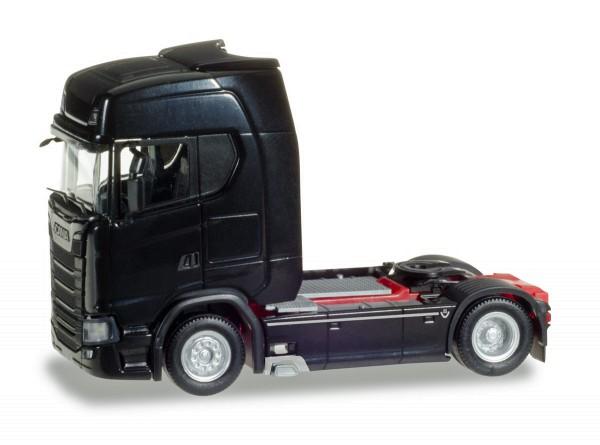 Herpa 307468 - Scania CS 20 HD V8 Zugmaschine mit Sonnenblende, schwarz - 1:87